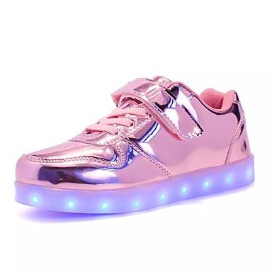 povoljno LED Cipele-Djevojčice PU Sneakers Mala djeca (4-7s) / Velika djeca (7 godina +) Udobne cipele / Svjetleće tenisice Vezanje / LED Zelen / Pink / Navy Plava Jesen / Zima / TR / EU36