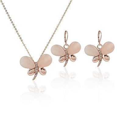 Damskie Opal Biżuteria Ustaw - Opal, Imitacja diamentu Ważka Klasyczny, Moda Zawierać Kolczyki drop / Naszyjniki Złoty Na Codzienny