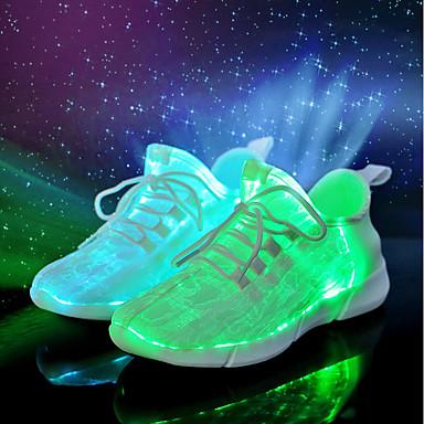 f119734eb0 Homens sapatos Tecido Primavera Verão Tênis com LED Inovador Conforto Tênis  para Casual Festas   Noite