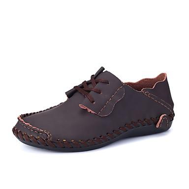 Męskie Buty Skóra Wiosna Jesień Mokasyny Mokasyny i pantofle na Casual Black Gray Light Brown Dark Brown