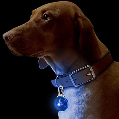 Kissa Koira Kaulapannat Merkit LED valot Turvallisuus Yhtenäinen Muovi Keltainen Punainen Vihreä Sininen Pinkki