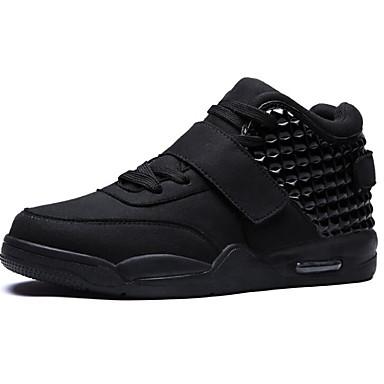 Herren Schuhe PU Frühling Herbst Komfort Sneakers für Normal Weiß Schwarz Rot