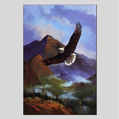 Ręcznie malowane Zwierzęta Pionowo Panoramiczny, Zwierzęta Brezentowy Hang-Malowane obraz olejny Dekoracja domowa Jeden panel