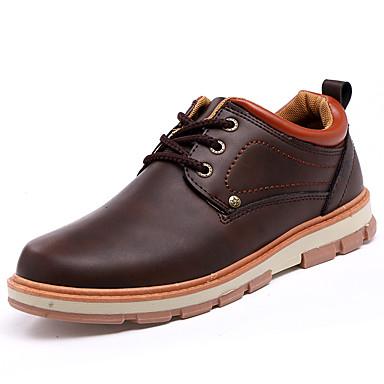Herren Schuhe Stoff Frühling Herbst Komfort Slouch Stiefel Outdoor Schnürsenkel Für Sportlich Schwarz Gelb Kaffee