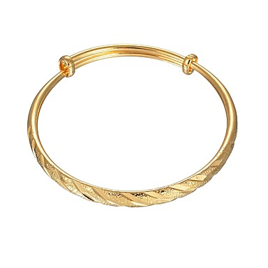 billige Motearmbånd-Dame Armringer Armbånd geometriske Vintage Grunnleggende Kobber Armbånd Smykker Gull Til Daglig
