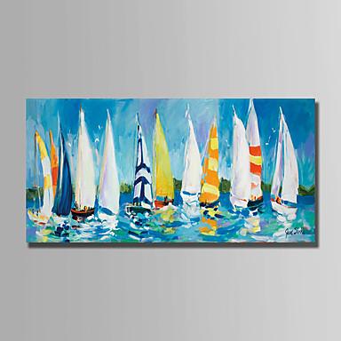 levne Obrazy a nástěnné dekorace-Hang-malované olejomalba Ručně malované - Krajina Moderní Obsahovat vnitřní rám / Válcované plátno