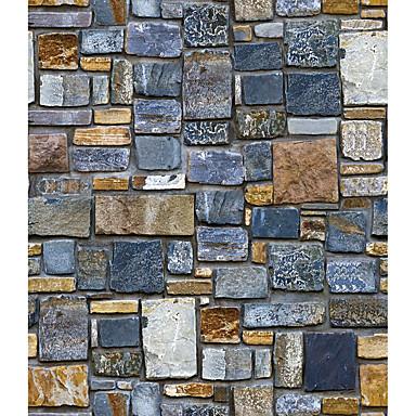 levne Tapety-Architektura Retro 3D Samolepky na zeď Samolepky na stěnu 3D samolepky na zeď Ozdobné samolepky na zeď Svatební samolepky, Papír Vinyl