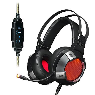AJAZZ AX361 7.1 Opaska na głowę Przewodowy/a Słuchawki Dynamiczny Stal nierdzewna Plastikowy Rozrywka Słuchawka Z kontrolą głośności z