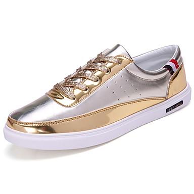 Męskie Buty PU Wiosna Jesień Comfort Tenisówki Na Casual Gold Black Silver