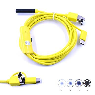 3 in 1 usb endoskop 7mm objektiv 1,5 mt länge inspektion endoskop kamera ip67 wasserdicht für windows android schlange cam