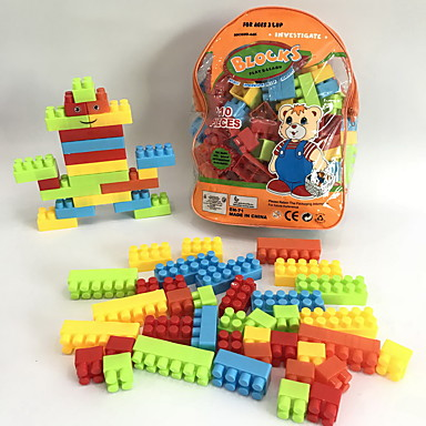 Klocki 110pcs Kreskówka Cartoon Shaped Cartoon Toy DIY Motyw kreskówkowy Plecak Rodzina Dla chłopców Zabawki Prezent