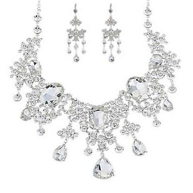 Damskie Rhinestone Imitacja diamentu Biżuteria Ustaw Zawierać 1 Naszyjnik Náušnice - Klasyczny Modny Imitacja diamentu Stop Nieregularny