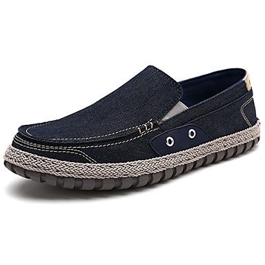 Męskie Buty PU Wiosna Jesień Comfort Mokasyny i pantofle na Na wolnym powietrzu Dark Blue Gray