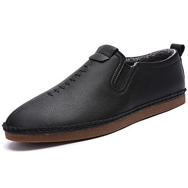 Męskie Buty Oxford Zima Mokasyny Mokasyny i pantofle na Na wolnym powietrzu Black Orange