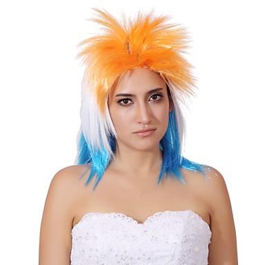 Peruki syntetyczne Włosy syntetyczne Blond Peruka Damskie Medium cosplay peruka / Peruka imprezowa / Halloween Wig Bez czepka