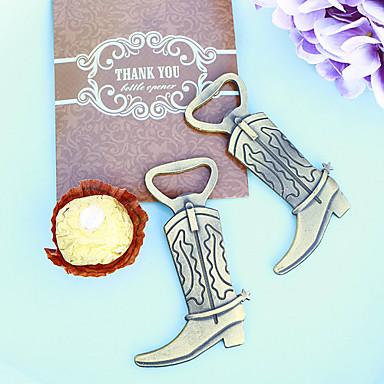 1szt / worek - otwieracz do butelek na buty kowbojskie w kolorze brązowym dziękuję upominkom za prezent