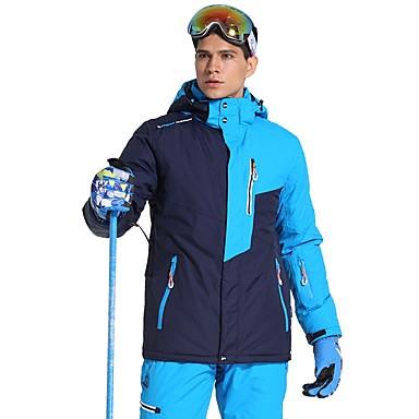 Phibee Herrn Skijacke Warm Wasserdicht Windundurchlässig tragbar Atmungsaktivität Anti-Statisch Skifahren Polyester
