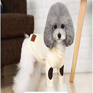 Kot Pies Płaszcze Swetry Święta Bożego Narodzenia Ubrania dla psów Beige Gray Bawełna Kostium Dla zwierząt domowych Codzienne