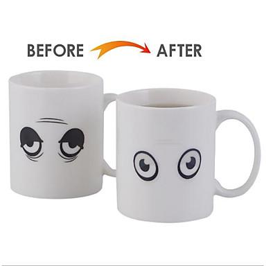 Porcelana przyssawkę Ciepło Wrażliwy zmieniający kolor 1 Kawowo Herbata Naczynia do picia