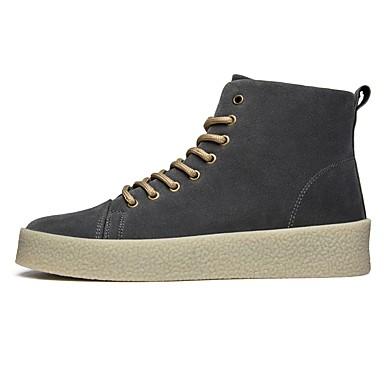 Herren Schuhe PU Winter Herbst Komfort Leuchtende Sohlen Sneakers Für Normal Schwarz Grau Braun
