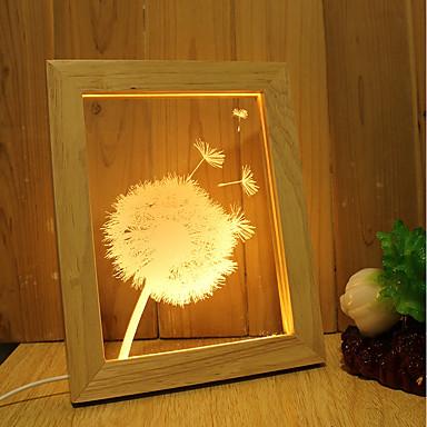 1kpl 3D Nightlight Przysłonięcia Dekoracyjna Artystyczny LED Modern / Contemporary