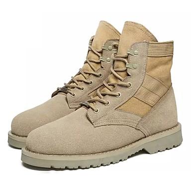 Damen Schuhe PU Winter Pelzfutter Modische Stiefel Stiefel Runde Zehe Booties / Stiefeletten Schnürsenkel für Normal Draussen Khaki