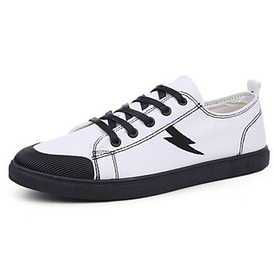 Męskie Buty PU Materiał Jesień Comfort Tenisówki na Casual White Black