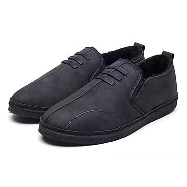 Herrn Schuhe PU Winter Pelzfutter Komfort Sneakers für Normal Schwarz Grau