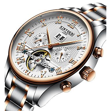 Недорогие Армейские часы-Муж. Нарядные часы Наручные часы Механические часы Swiss С автоподзаводом Серебристый металл 30 m Календарь Секундомер С гравировкой Аналоговый Роскошь Классика На каждый день Мода Элегантный стиль -