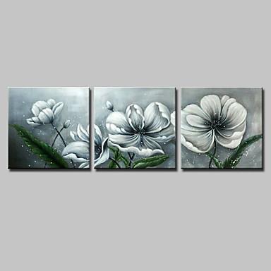 Hang-Ölgemälde Handgemalte - Blumenmuster / Botanisch Einfach Modern Segeltuch