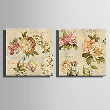 Kanvas Set Çiçekler Modern, Çift Panelli Tuval Yatay Boyama Duvar Dekor Ev dekorasyonu