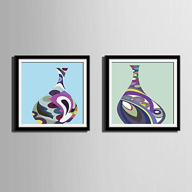 Oprawione płótno Zestaw w oprawie Streszczenie Martwa natura Kaprys Wall Art, PVC (polichlorek winylu) Materiał z ramą Dekoracja domowa