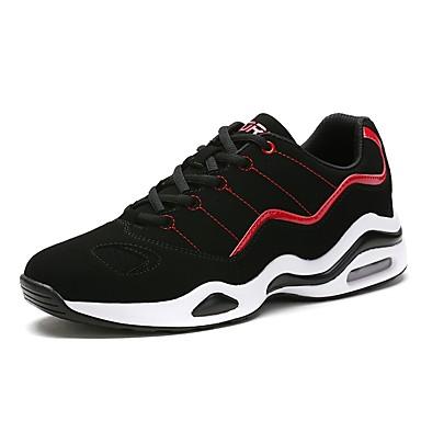 Męskie Buty Materiał do wyboru Zima Jesień Lekkie podeszwy Comfort Tenisówki na Casual Na wolnym powietrzu Black/White Black/Red