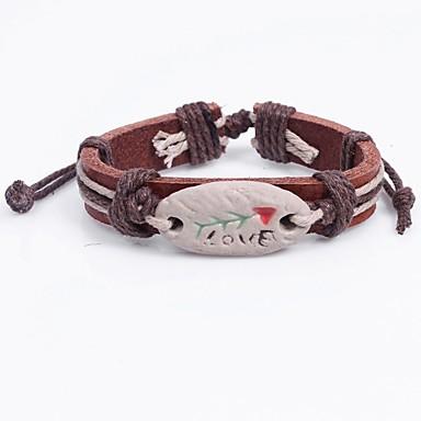 Damen Armband Ethnisch lieblich China Leder Kreisform Schmuck Für Schultaschen Strasse
