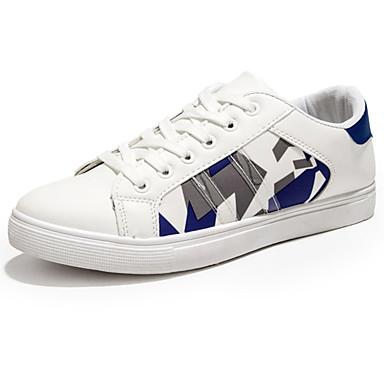 Herren Schuhe PU Frühling Herbst Komfort Sneakers Für Weiß