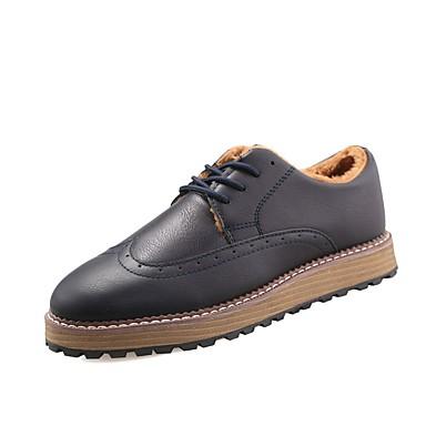 Herren Schuhe Leder Frühling Herbst Komfort Sneakers Schnürsenkel Für Normal Schwarz Braun Blau