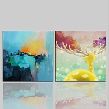 Nadruk na płótnie Comtemporary Klasyczny Rustykalny Nowoczesny, Dwa panele Brezentowy Kwadrat Wydrukować wall Decor Dekoracja domowa