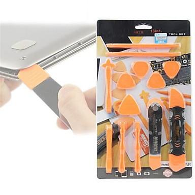 billiga Verktygsuppsättningar-13 i 1 demonteringsverktyg sätter pry spudger rullöppning verktyg för iphone 7 6 5 för ipad för ipod tablett reparation
