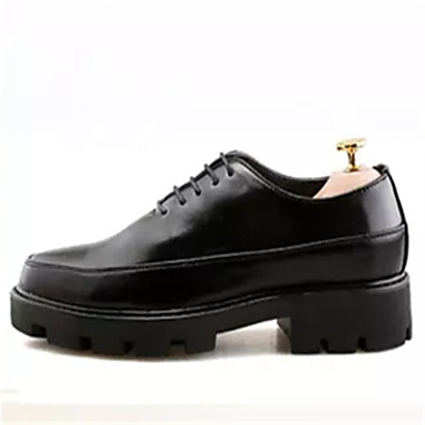 Men's Formal Shoes PU(Polyurethane) Spring / Fall Oxfords Black / Burgundy / Party & Evening / Dress Shoes