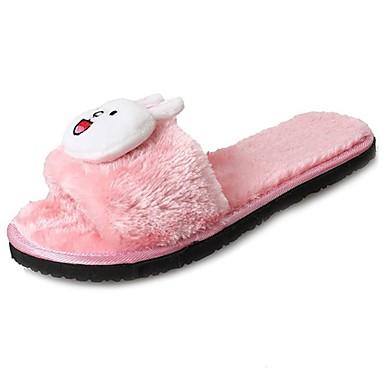 Damen Schuhe Vlies Winter Komfort Slippers & Flip-Flops Grau / Rot / Rosa