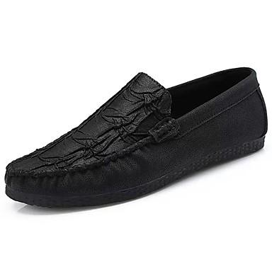 Męskie Buty Syntetyczny Microfiber PU / Derma / PU Na każdy sezon Comfort / Mokasyny Mokasyny i pantofle Black