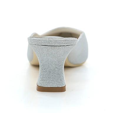 Basique Block Bout carré Paillette Femme Rouge 06398385 Printemps Eté Argent mariage Chaussures Escarpin Chaussures de Bleu Heel Mariage rzBqzPFX