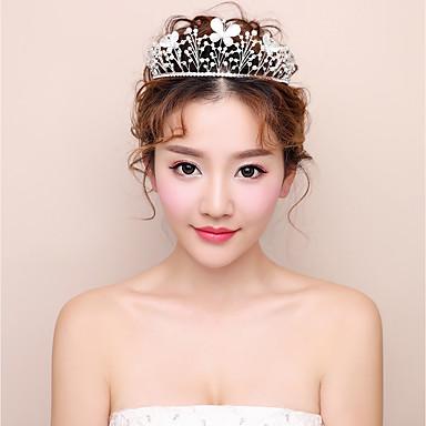 Aluminiowe tiary 1szt headpiece wesele elegancka kobieca stylizacja