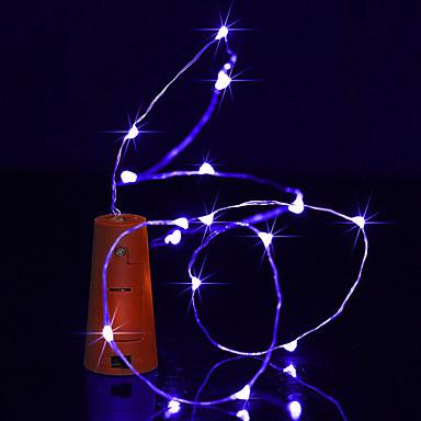 BRELONG® 1m Łańsuchy świetlne 10 Diody LED Ciepła biel / Biały / Niebieski Wodoodporne <5 V 1szt