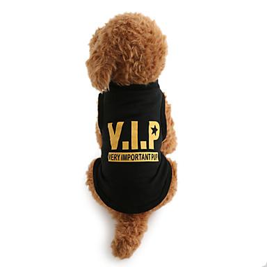 Câine Tricou Îmbrăcăminte Câini Literă & Număr Negru Bumbac Costume Pentru animale de companie