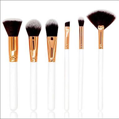 6szt Pędzle do makijażu Profesjonalny Zestawy Brush / Pędzelek do różu / Pędzelek do cieni Pędzel nylonowy / Włosie synetyczne Pełne pokrycie Drewno