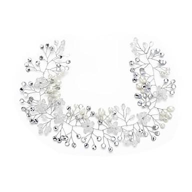 Kryształ / Imitacja pereł / Kryształ górski Opaski na głowę z 1szt Ślub / Specjalne okazje Winieta