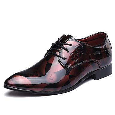 Homens Sapatos formais Microfibra Primavera / Outono Oxfords Caminhada Preto / Vermelho / Azul / Casamento / Festas & Noite / Impressão Oxfords