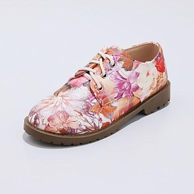 Eté Bottier Confort Talon Femme rond Oxfords Printemps Vert 06426711 Rouge Chaussures Similicuir Bout pnwHpxqtO