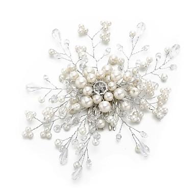 Kryształ / Imitacja pereł / Stop Grzebienie do włosów z Sztuczna perła / Kryształ / Rhinestone 1 szt. Ślub / Specjalne okazje Winieta